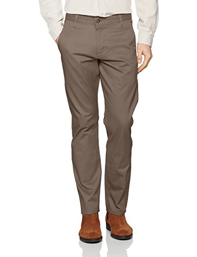 Bic Alpha Original Slim Tapered-Stretch Twill, Pantalones para Hombre, Gris (Dark Pebble 0433), W40/L34 Dockers