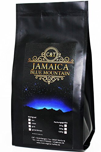 Kaffeebohne JAMAIKA BLUE MOUNTAIN AA 450 g als Ganze Bohne (Ganze Bohne Kaffee Blue Mountain)