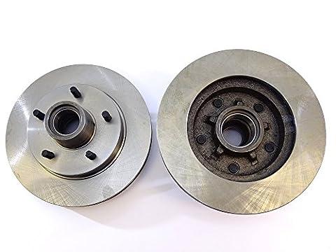 2x Bremsscheibe Rotor Front & Hub Montage 5547als Tec für Chevrolet Camaro Malibu