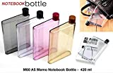 GKP PRODUCTS A5 Size Memo Bottle/Notebook Style Flat and Ultra Slim Portable Bottle