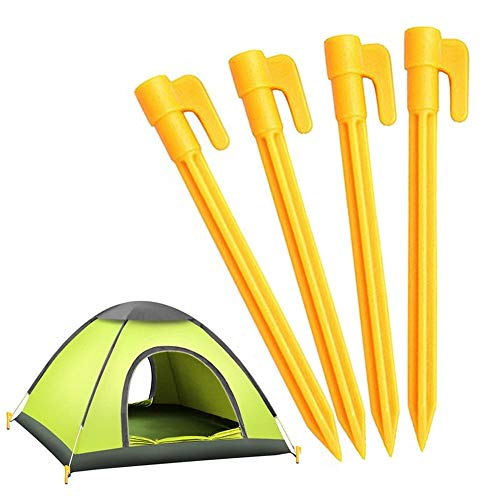 4PCS /Set Outdoor Travel Tent Matte Stakes Pegs Pins Plastic Fixing Nails, Zelte Nails Beach Matte Winddicht Fixed Plastic Nails Pile Anchors -