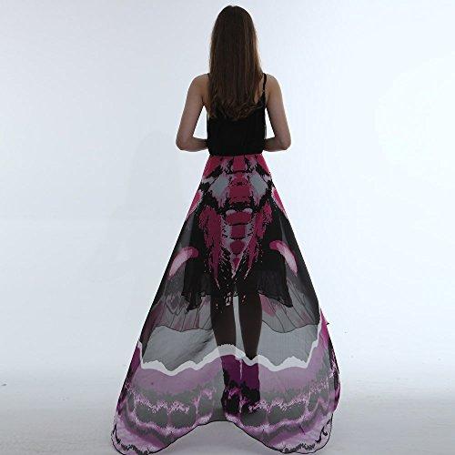 Kostüm Pfefferminz - Junjie Chiffon Schmetterling Flügel Schal,Damen Ladies Costume Pashmina mit Armband Nymphe Elf Kostüm Transparent Partei Rosa Grünes Multicolor Gelb Größe: 185 * 145cm