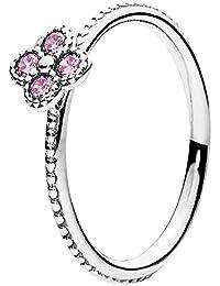 Pandora Anillo para mujer color rosa farbene crean flor Gr 58191001pcz de 58