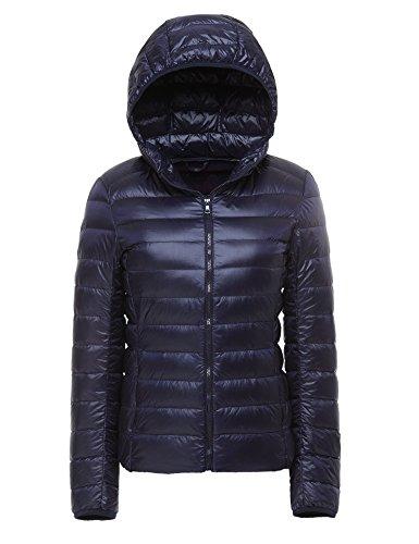 CHERRY CHICK Women's Ultralight Down Hooded Jacket , Größe XS / 34 / Herstellergröße M, Farbe Blue Purple (Ultralight Down Jacket)