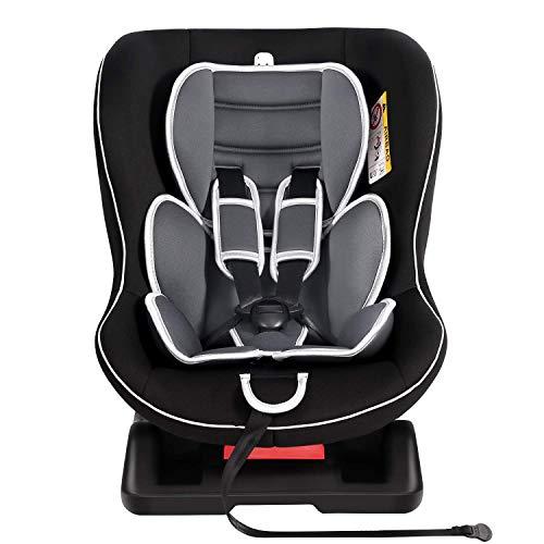 Meinkind Autositz Kindersitz Kinderautositz, Universal, Gruppe 0+, 1(0-18kg)(0-4 Jahre Alt) mit 2 Kopfstützen und gepolstertem Sitz, 3 Liegepostition einstellbar - (Schwarz) - 18 Zeichen