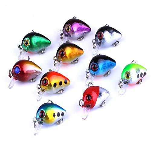 Goodplan Simulierte Fischköder Köder Gefälschte Fisch Form Köder Mini Locken Köder für Outdoor Angeln Verwenden 10 STÜCKE Zufällige Farbe