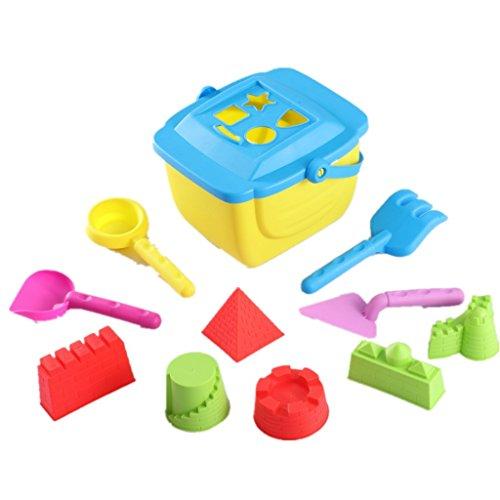 KAIMENG Beach Toys Set Baby Sand Spielzeug Weiche Große Größe Helle Farbe Pool Spielzeug Set mit Netzbeutel 10 stücke für Kinder Kleinkinder (Farbe Mai variieren)