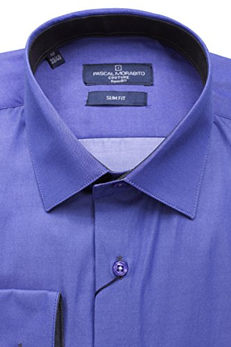 Leader Mode - Chemise habillée Mrt015 Indigo Bleu