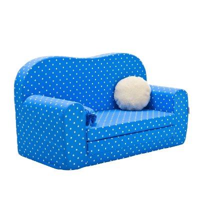 Gepetto Maxi Kindersofa blau ausklappbar plus extra Kissen - mit Liegefunktion als Gästebett - 3