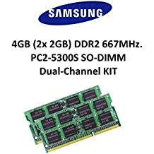 Samsung 4GB Dual-Channel KIT (2x 2GB) DDR2 667 Mhz PC2-5300 200pin SO DIMM Notebook Memory Upgrades 3rd Memory