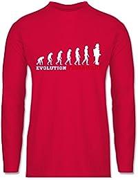 Feuerwehr - Evolution Feuerwehr - Longsleeve / langärmeliges T-Shirt für Herren
