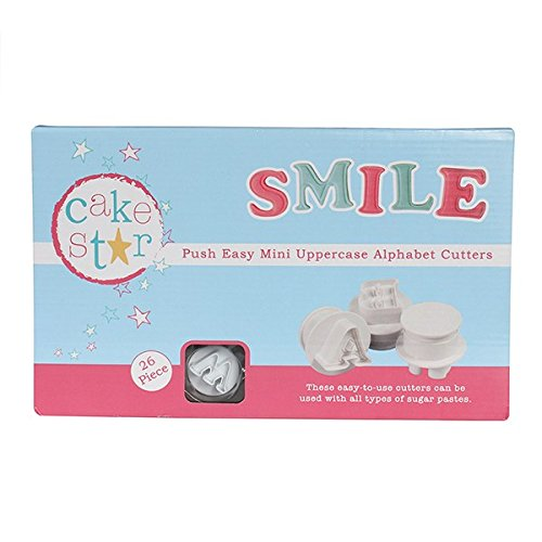 Cake Star Mini Push Cutters - Uppercase Alphabet Set 26 Piece