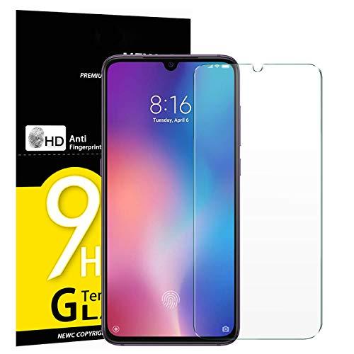 NEW'C Verre Trempé pour Xiaomi Mi 9, Film Protection écran - Anti Rayures - sans Bulles d'air -Ultra Résistant (0,33mm HD Ultra Transparent) Dureté 9H Glass