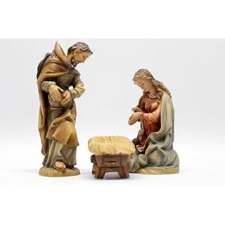ANRI Weihnachtsfiguren Krippenfiguren Bacher Heilige Familie coloriert