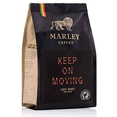 Keep On Moving Light Roast Rainforest Alliance Coffee, Marley Coffee, from The Family of Bob Marley by Marley Coffee