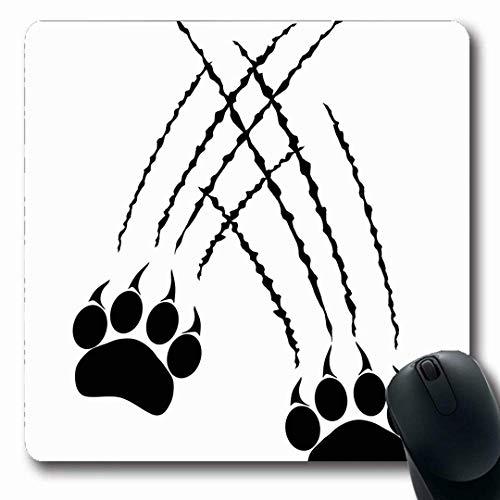 Mousepads Caracal Claw Footprints Große Katzentatzen Panther Tiger Rage Natur Lion Cougar Jaguar Leopard Jagd Längliche Form Rutschfeste Gaming Mouse Pad Gummi Längliche Matte,Gummimatte 11,8