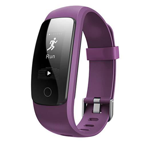 WAOTIER Fitnesstracker Sportmodus Fitnessarmband Smartwatch Whatsapp FB Anruf Benachrichtigung Pulsmesser Für IOS Android Sportuhr Schrittzähler Fernsteurung Aktivitätsarmband Kalorienzähler (Rosa)