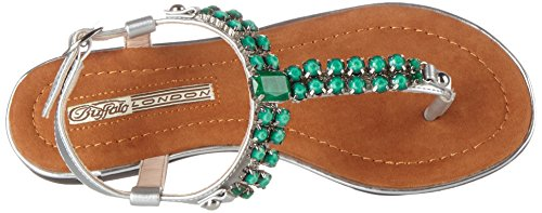Buffalo London - 14bu0155-1 Leather Pu, Infradito Donna Multicolore (Silver127)
