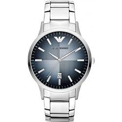 Emporio Armani Herren-Armbanduhr XL Analog Quarz Edelstahl AR2472