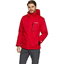 Columbia Ride On Jacket Chaqueta, Hombre, Rojo (Mountain Red), XL