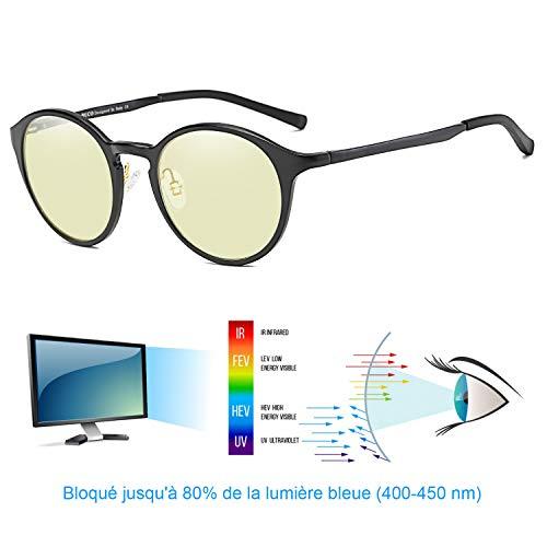 DUCO Blaues Licht blockierende Brille Computer brille blockierung uv für erholsamen Schlaf - Computerspiele und Gamer 304