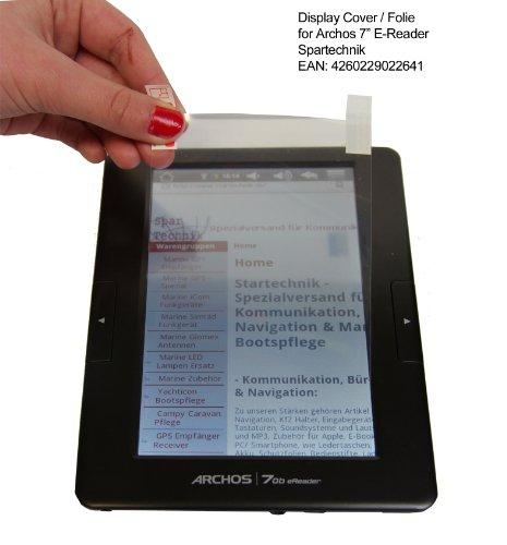 Beste Adhäsion Folie für Archos 70B: 1 Displayfolie für Archos E-Book Reader...