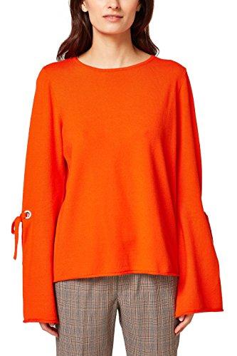 edc by ESPRIT Damen 038CC1I002 Pullover, Bright Orange 880, Medium