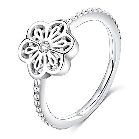 Blume Form Zirkonia Ewigkeit Stapelbar Verlobungsring Größe 7 (Stapelbare Zirkonia Band)
