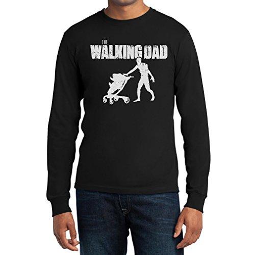 The Walking DAD - Das perfekte Vatertagsgeschenk Langarm T-Shirt Schwarz