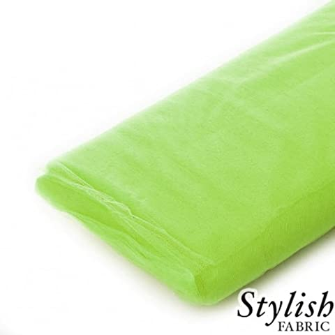Lime Tulle Fabric - 40 Yards Per Bolt by Stylishfabric - Tessuto Di Tulle Bolt