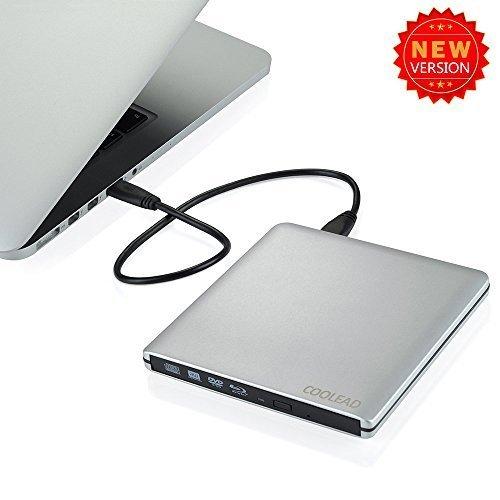 USB 3.03d Blu-Ray Disc esterna, attacco da BD RW MASTERIZZATORE CD-RW DVD-RW masterizzatore esterno per Apple MacBook Air Pro iMac mac os Laptop Computer Desktop PC All-in-One (argento)