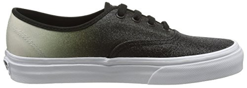 Vans Unisex-Erwachsene Authentic Low-Top Schwarz (2 Tone Glitter silver/black)