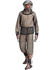 Kiccoly vêtement de protection antimites léger d'été Bug Wear Mosquito Suit Veste Mitaines Pantalon Chaussettes pour homme femme avec Ultra Fine Maille randonnée Pêche Camping Abeille d'alimentation pour cyclisme