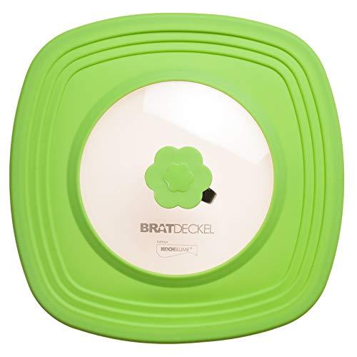 Kochblume – Bratdeckel grün / lime – quadratisch 32 cm… | 04044332720010