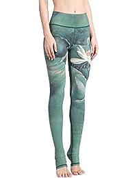 SEEU Sport Leggings Damen, Printed Trainingshose für Laufen Yoga Workout