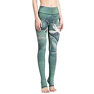 SEEU Sport Leggings Damen, Printed Trainingshose für Laufen Yoga Workout