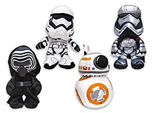 Star Wars h840070Episodio 7Peluche de Figuras Juego 4Personajes 17cm, Multicolor