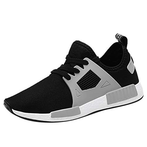 TWISFER Herren Walkschuhe Laufschuhe Ultraleichte Flyknitted Trainer Schuhe Mesh Atmungsaktive Freizeitschuhe Sportschuhe Sneaker Mode Freizeitschuhe Sneakers Männer
