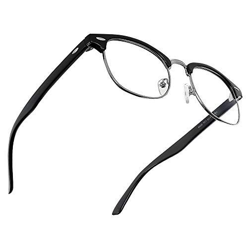 Cyxus Blaulichtfilter Brille [Halb Randlos] Computerbrillen, Anti-Augen-Müdigkeit-Brillenglas, Unisex (Herren/Damen) (Valentinstag-limitierte Auflage)