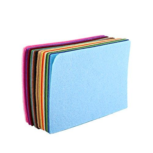 Mischfarben Filz Gewebe Nichtgewebtes Blatt-Quadrat für nähendes Fertigkeit DIY 10 × 15cm 40 ()