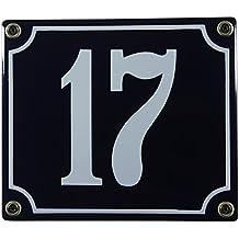 Buddel Bini Wetterfestes Emaille Hausnummernschild 14 12 x 14 cm sofort lieferbar gr/ün