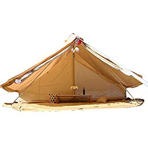 TentHome 4-Season Cotton Canvas Bell Tent Camping Yurts