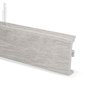 2,5m Sockelleisten Kunststoff Fussleisten 80mm x 19mm -- ULTIMA 007 Eiche skandinavisch -- PVC Scheuerleiste Fußbodenleiste EXKLUSIV von Jumbo Shop - TapetenShop