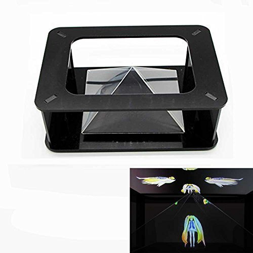 coolnice nicecool Magic Box 360 Virtual Reality Hologramm 3D Holografische Projektions-Pyramide Hatsune Miku für iPhone SE iPhone 6S Plus Samsung S6 (alle 3,5-6 Zoll) - Samsung Projektor 3d