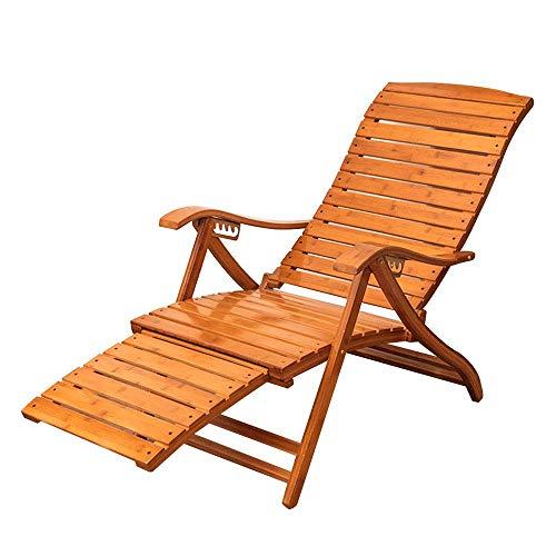 DANDAN-Deckchairs Recliner Bamboo Klapp Schaukelstuhl Erwachsene Siesta Stuhl Ältere Freizeit Stuhl Outdoor Schwangere Frauen Lazy Beach Chair Sommer Cool Chair