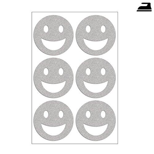 Smiley Set Con 6 Riflettente Smileys Cinghia Tracolla Immagini Reflektierend Im Set Con Sei Smileys Visibilità Più Sicurezza Al Buio E Nel