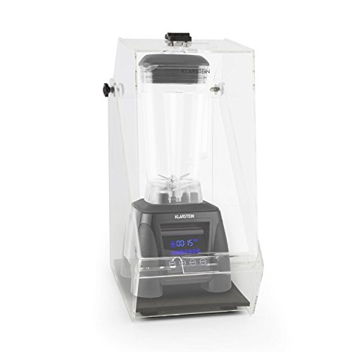 Klarstein-Herakles-8G-Batidora-vaso-con-carcasa-reductora-ruido-1800W-potencia-24-PS-2-litros-capacidad-38000-revminuto-sin-BPA-picadora-hielo-control-tctil-Negro