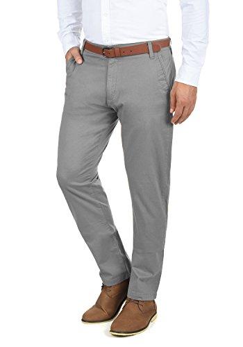 SOLID Machico Herren Chino-Hose lange Business Hose Casual aus hochwertiger Baumwollmischung Regular Fit , Größe:W32/32, Farbe:Mid Grey (2842)