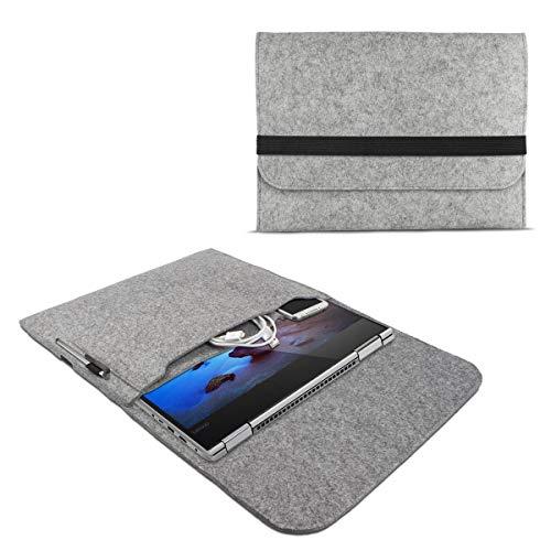 eFabrik ROYALZ Schutzhülle für Lenovo Yoga 530 / Yoga 520 Tasche aus Filz 14 Zoll Filztasche Case Sleeve Soft Cover Schutztasche Sleeve, Farbe:Grau Soft Sleeve Tasche