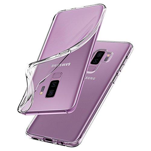 Spigen 593CS22913 Liquid Crystal für Samsung Galaxy S9 Plus Hülle, Transparent TPU Silikon Handyhülle Durchsichtige Schutzhülle Case Crystal Clear